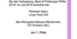 LingeParel wint 1e prijs