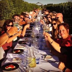 Langetafel diner in de wijngaard Betuws Wijndomein