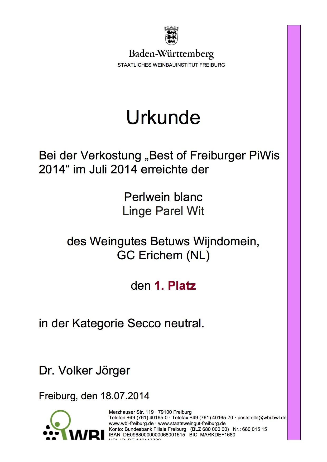 Urkunde Betuws 20140717